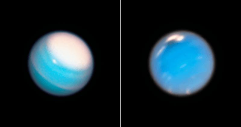 De meest recente opnames van Neptunus en Uranus door de Hubble