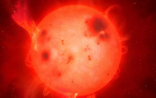 L-dwerg barst uit met enorme zonnevlam