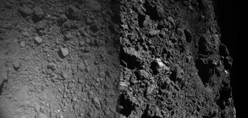 oppervlak Ryugu kort voor de landing