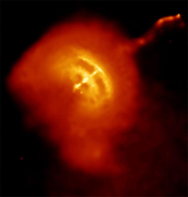 De Vela pulsar en zijn jet