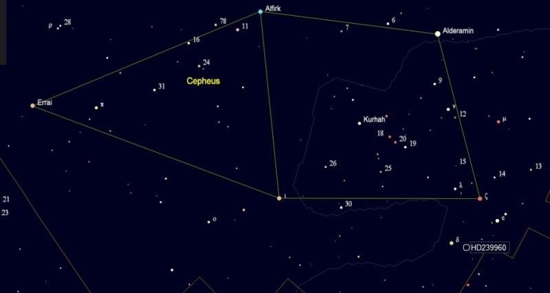Kruger 60 in het sterrenbeeld Cepheus
