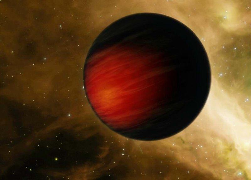 """Artist impression van een """"hete Jupiter"""""""