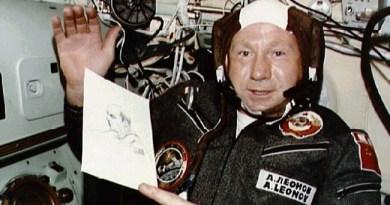 Alexei Leonov tijdens de Apollo-Sojoezmissie