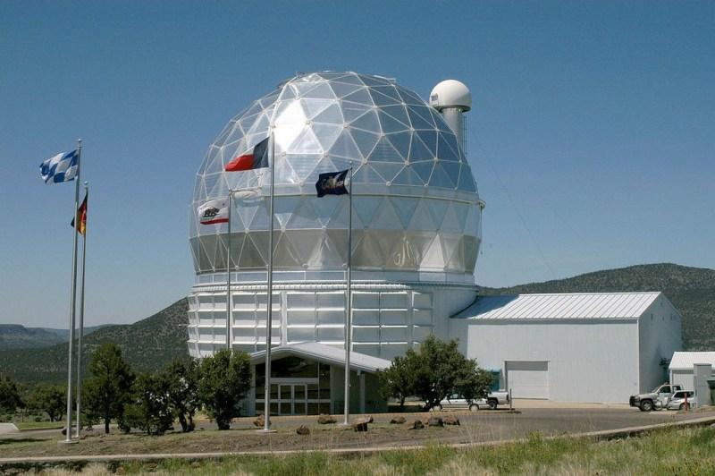 Koepel van de Hobby Eberly telescoop