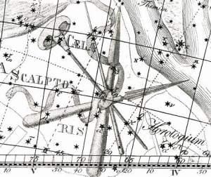 Caelum uit de Uranographia van Johann Bode