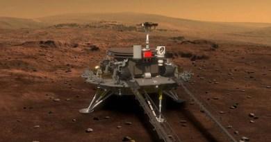 Artist impressie Tianwen-1 op Mars