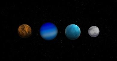 artist impressie van exoplaneten