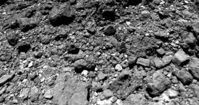 Hoge resolutie opname van het oppervlak van Ryugu