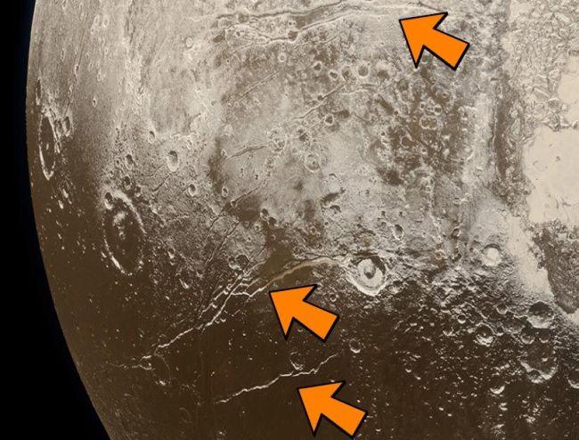 Expansiestructuren op Pluto