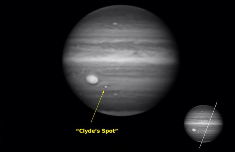 Clyde's Spot op Jupiter