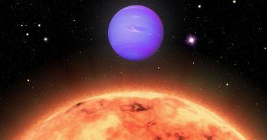 Artist impressie TOI-824b in het sterrenbeeld Circinus - Passer