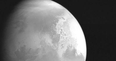Mars gefotografeerd door