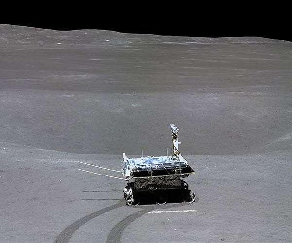 Yutu2 op de verre zijde van de Maan