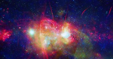 Het galactisch centum in röntgen en radiogovlen