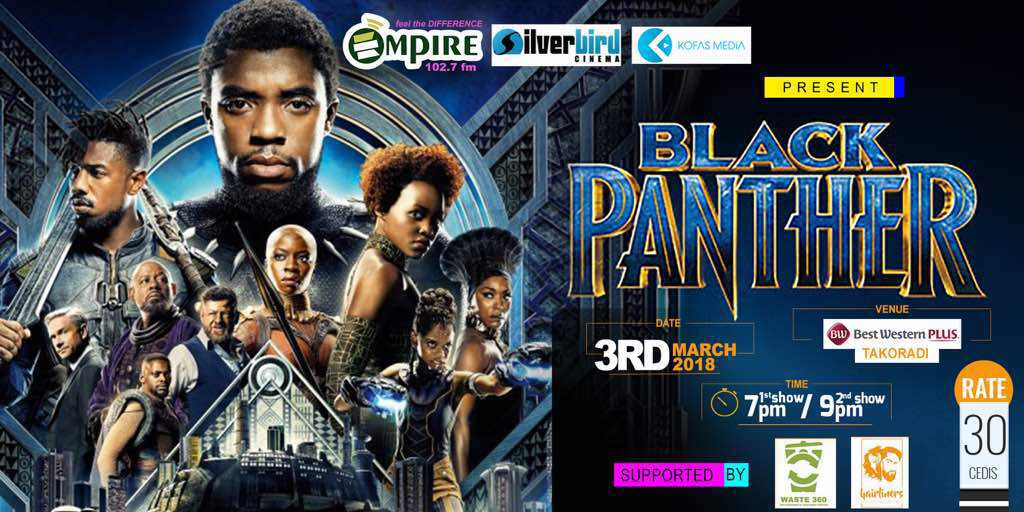 The Biggest, Talked About Movie - 'Black Panther' To Be Screened in Takoradi For The First Time!