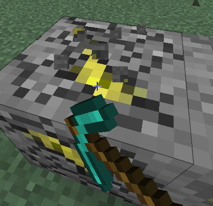 雷の石を採掘する