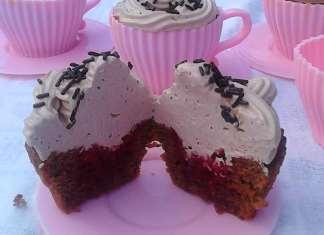 Cupcake čoko malina