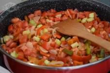 Brze taljatele sa prženim jajima i raznim povrćem-2