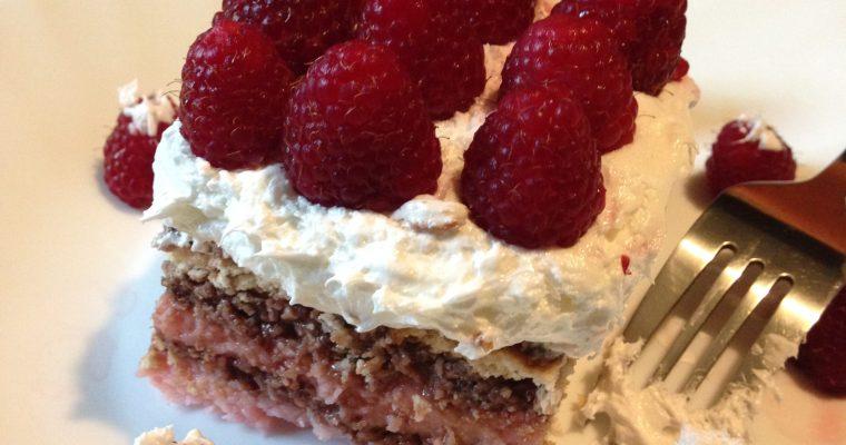 Malina keks torta-brza i kremasta