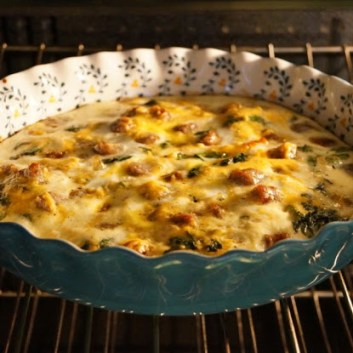 Breakfast for Dinner: Crustless Quiche