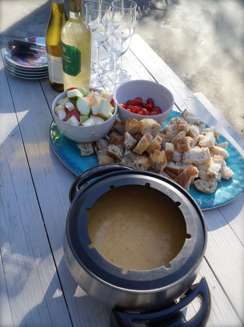 Beer Cheese Fondue Picnic