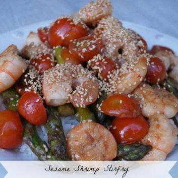 Sesame Shrimp Stirfry