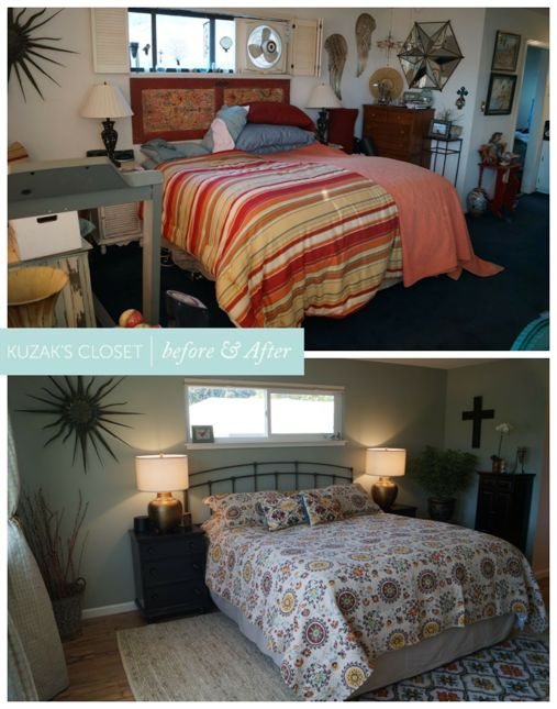 Kuzak's Closet Master Bedroom Organized Before and Afters