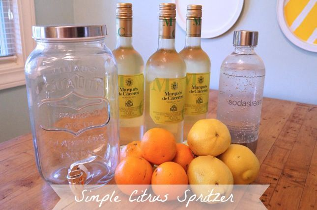 Simple White Wine Citrus Spritzer