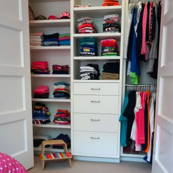 Organized Closets for Back to School
