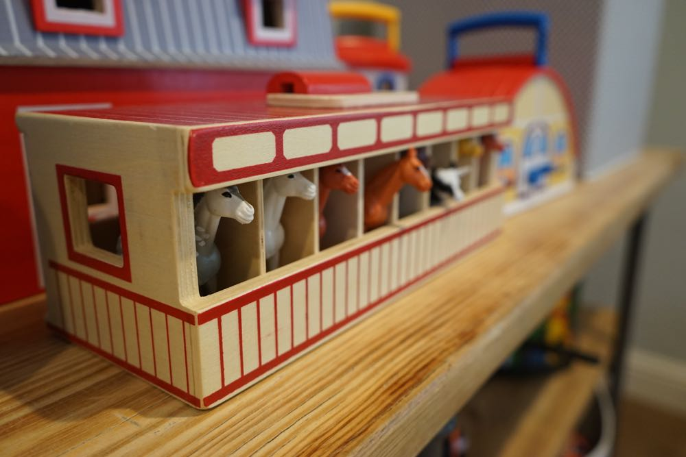 Organized and Playable Playroom, Simple Shelving and Visible Toys