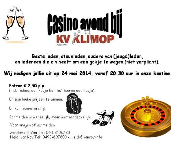 casinoavond klimop