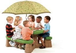 Dětský piknikový stolek se slunečníkem - velký