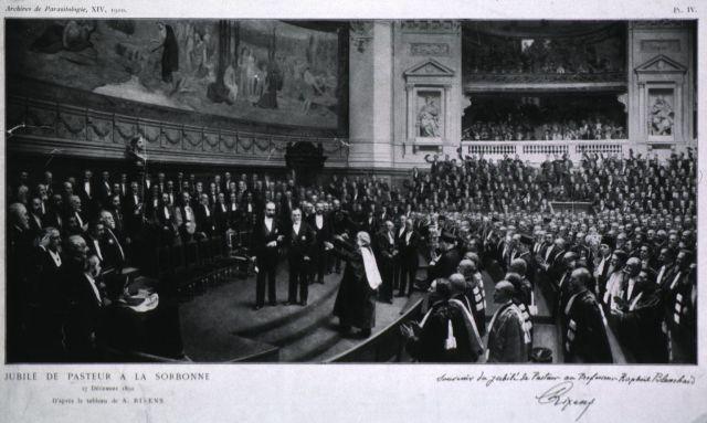 Pasteur na Sorboni