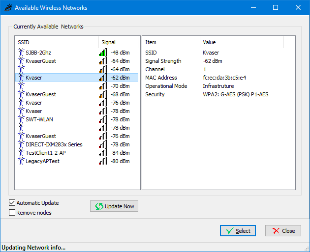 How to connect multiple Kvaser BlackBirds - browser networks dialog box