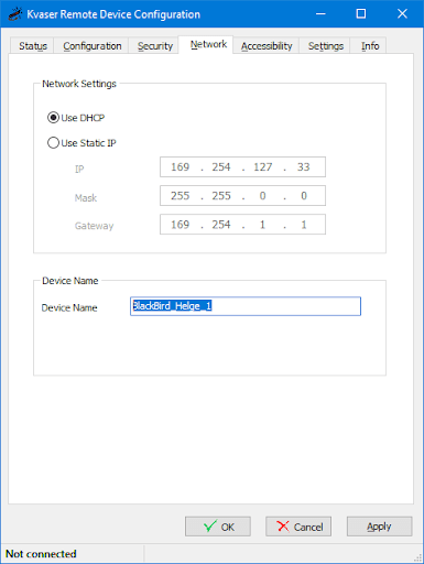 How to connect multiple Kvaser BlackBirds - changing device name
