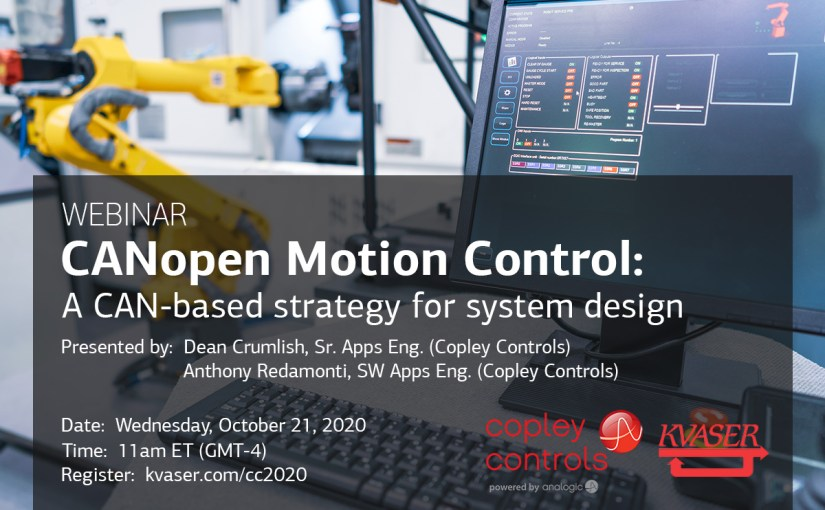 CANopen Motion Control: A CAN-based strategy for system design