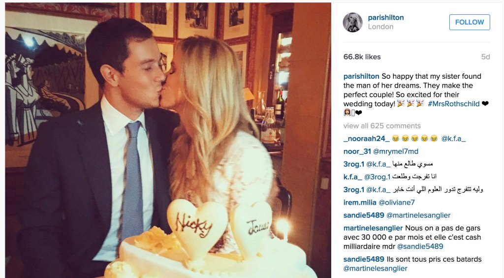 nicky hilton marries james rothschild