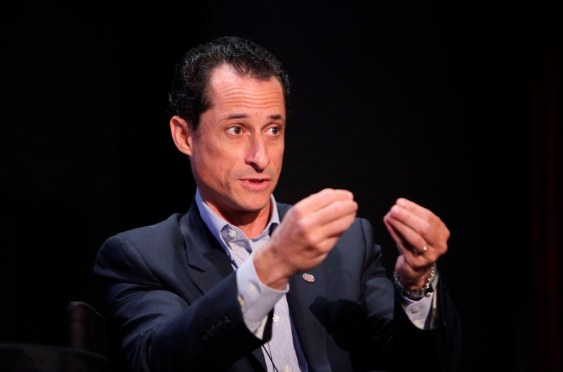 """NEW YORK - OCTOBER 02: Congressman Anthony Weiner speaks at """"Tea Party"""" a panel discussion at the 2010 New Yorker Festival at DGA Theater on October 2, 2010 in New York City. (Photo by Amy Sussman/Getty Images the New Yorker)"""
