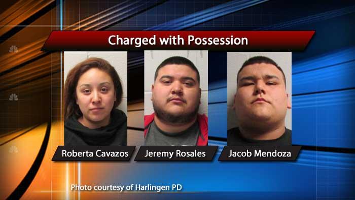 Three arrested in Harlingen drug raid
