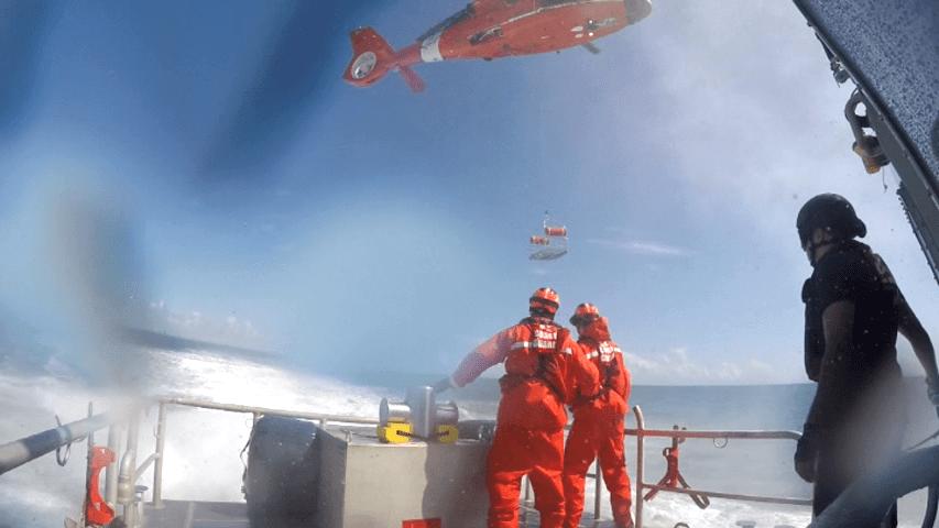U.S Coast Guard Boat & Air Crew