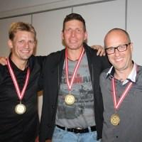 Modtagerne af Festudvalgets priser: Søren Jørgensen, Søren P.K. Andersen og Brian Sigsgaard.