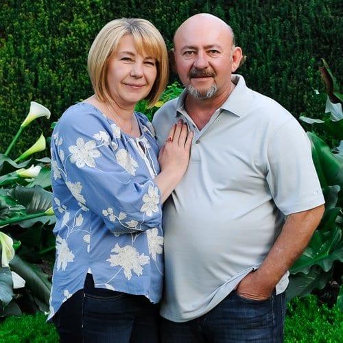 Oleg Mazurenko and his wife