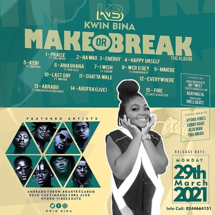 Kwin Bina - Make or Break Album