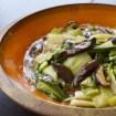 salteado de pakchoi con setas shitake, pak choi, setas shitake, cocina asiática