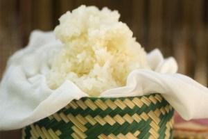 Arroz glutinoso, arroz tailandés, cocina tailandesa