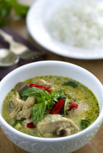 Curry receta, Curry verde con pollo, curry tailandés, pollo con curry, cocina tailandesa