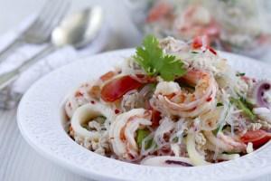 Ensalada de fideos de soja, ensalada tailandesa, fideos de soja, ensalada, cocina asiática