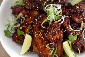 Alitas de pollo picantes, Alitas de pollo fritas, cocina tailandesa