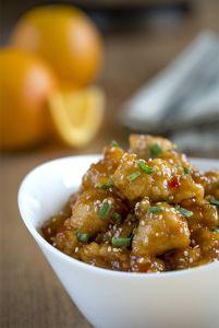 Pollo a la naranja, comida china, cocmida asiática, cocina asiática