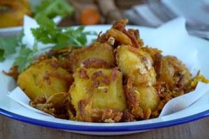 pescado frito con cúrcuma
